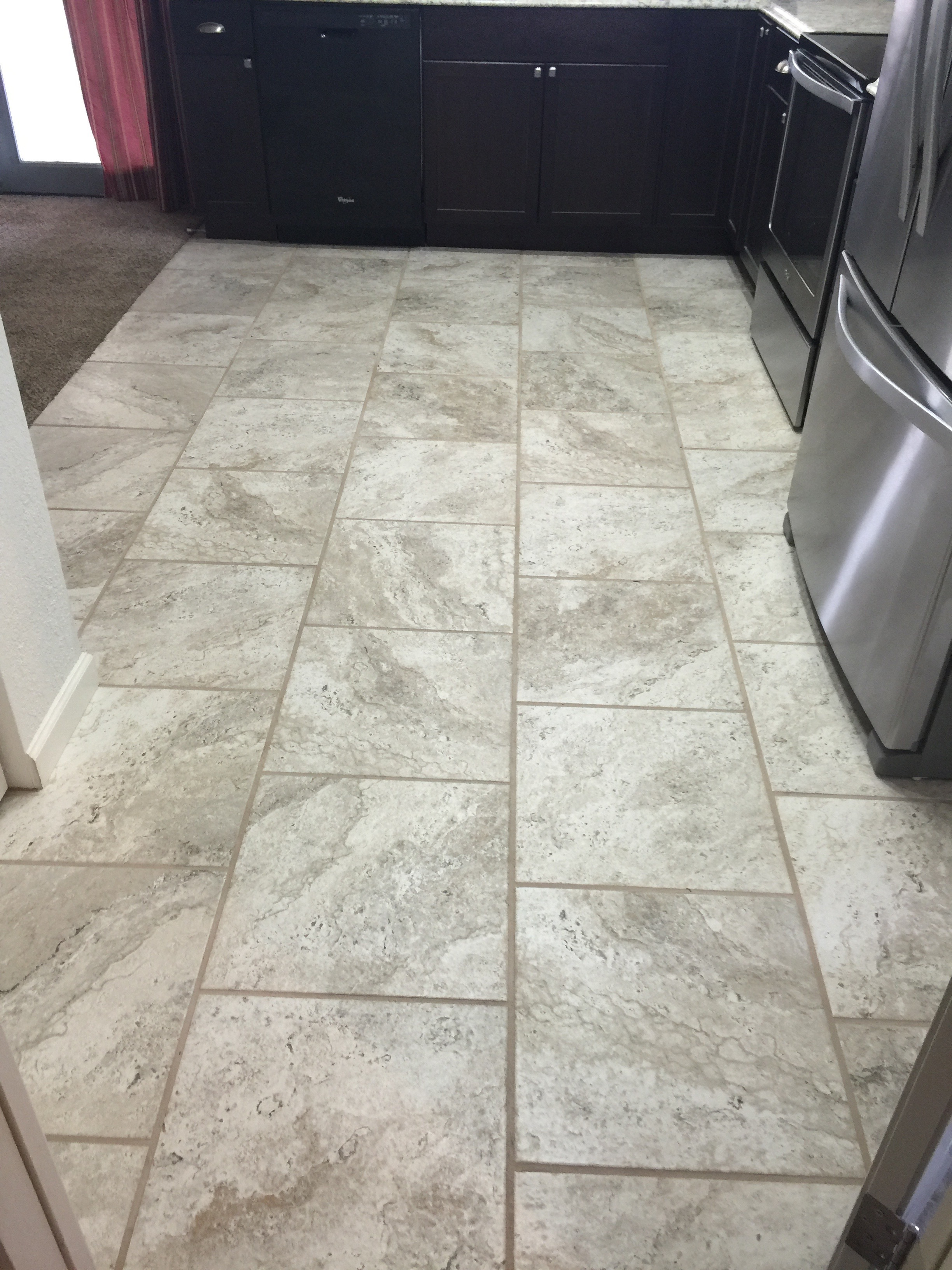 offset kitchen tile
